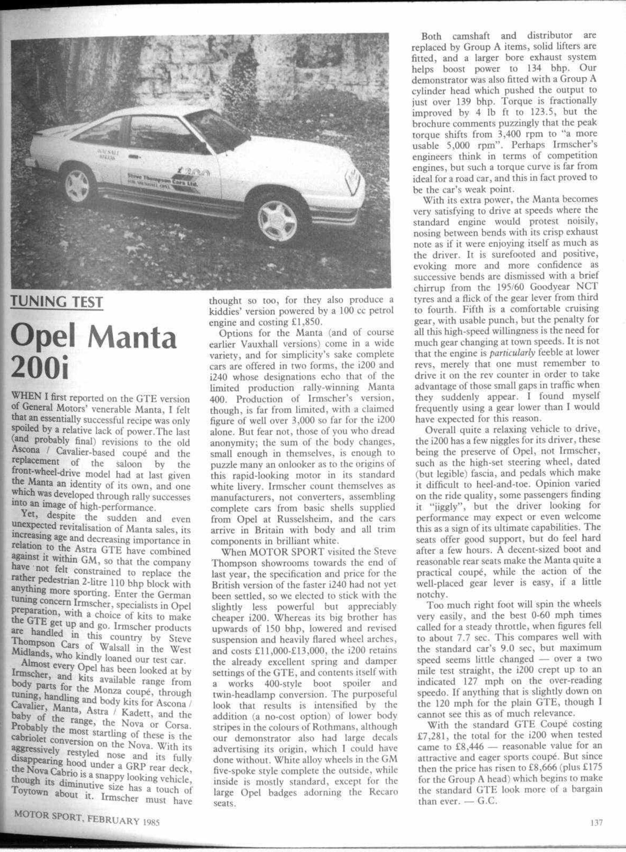 Tuning test | Motor Sport Magazine Archive