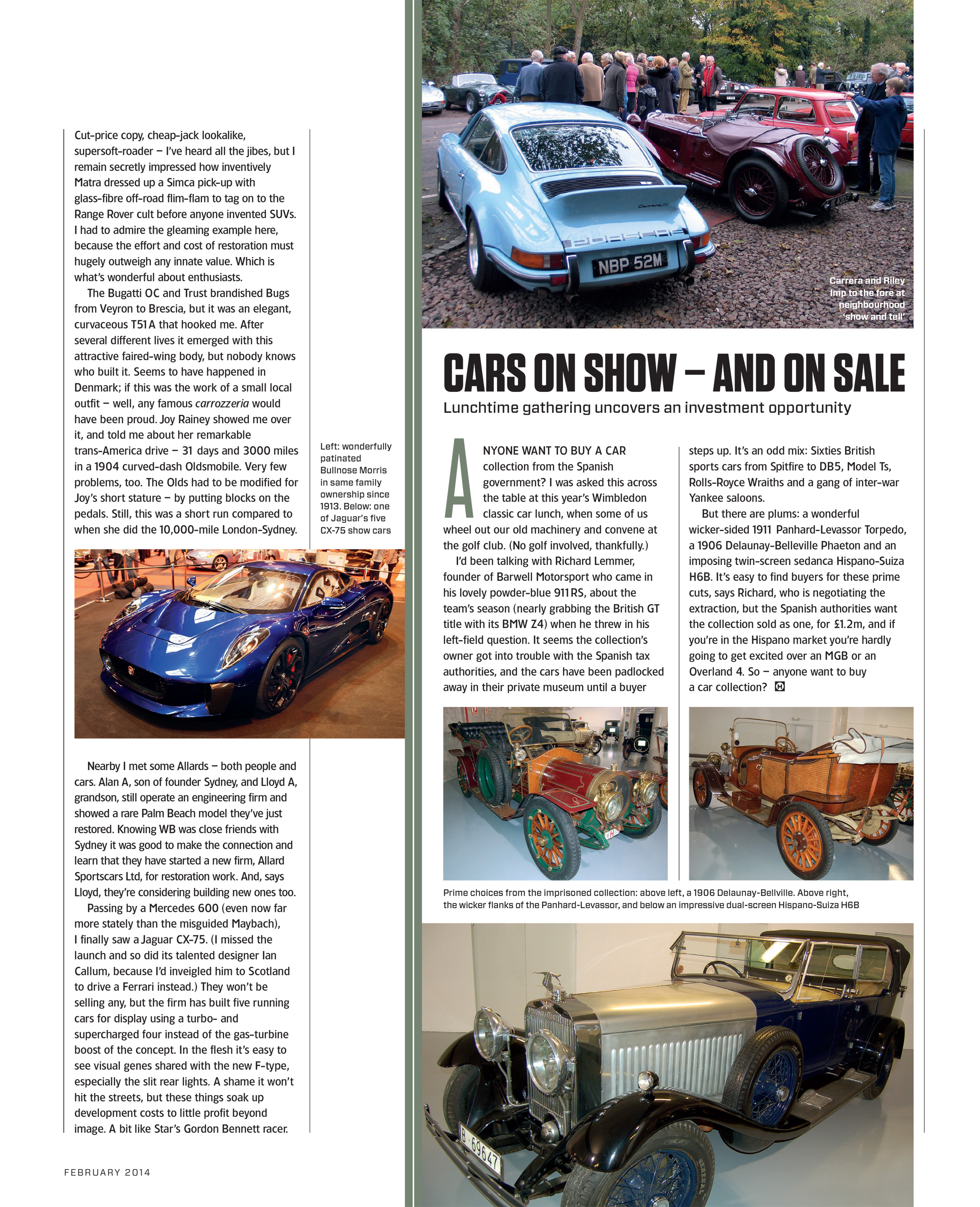 Cars on show – and on sale | Motor Sport Magazine Archive