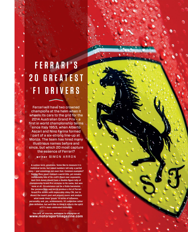 Ferrari's  20 greatest  F1 drivers image