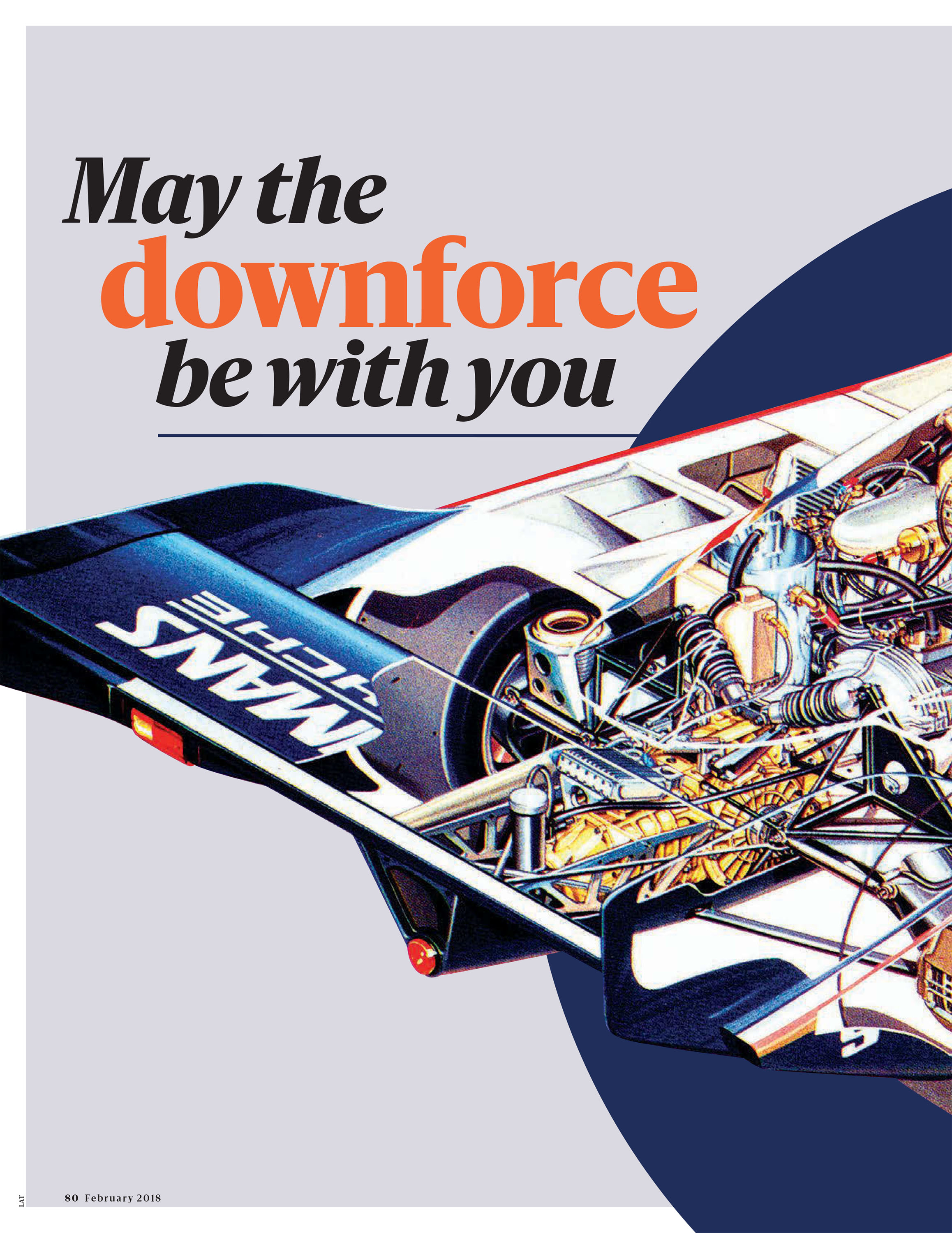 May the downforce be with you image