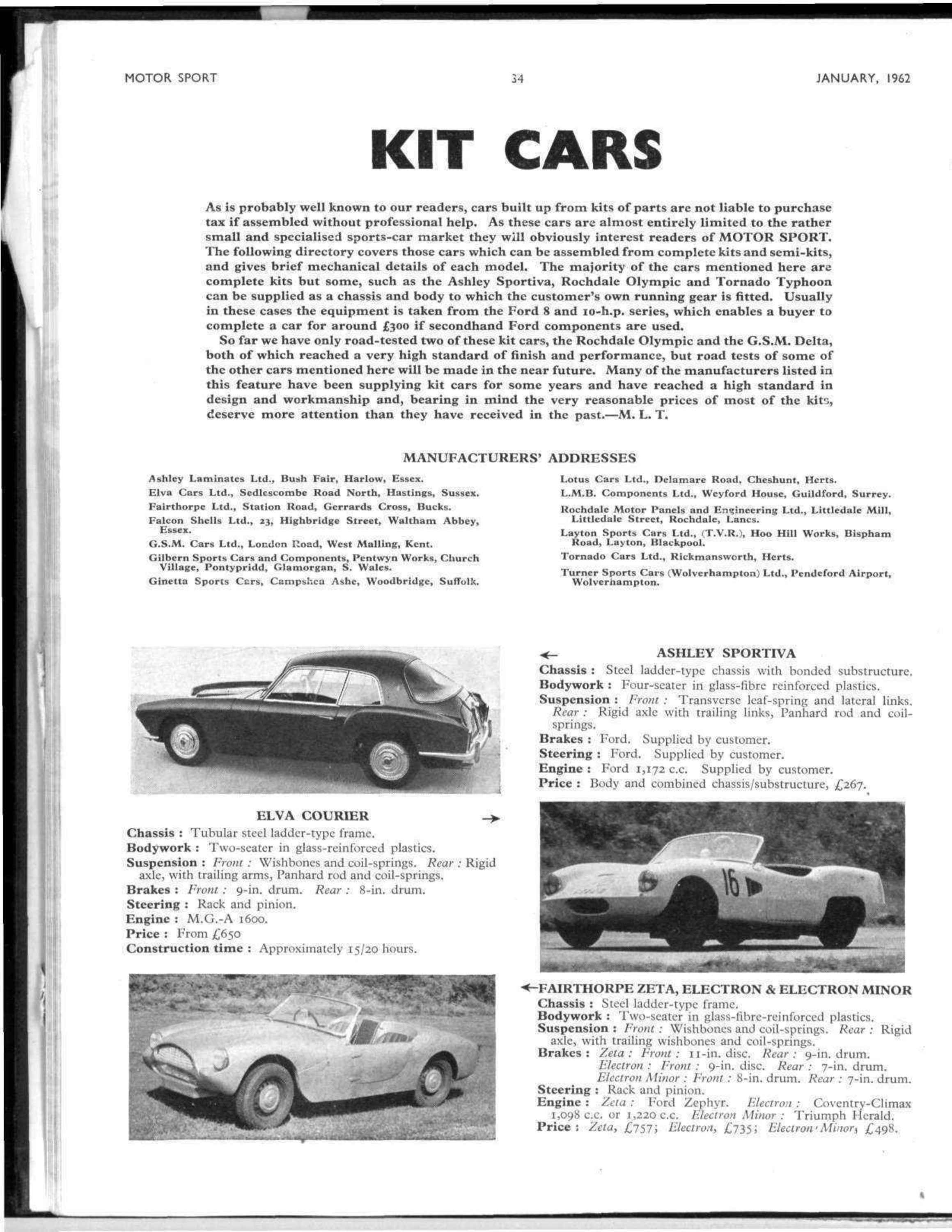 Kit Cars | Motor Sport Magazine Archive