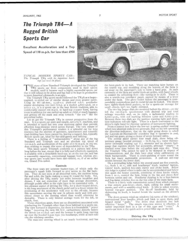 The Triumph TR4—a rugged British sports car   Motor Sport