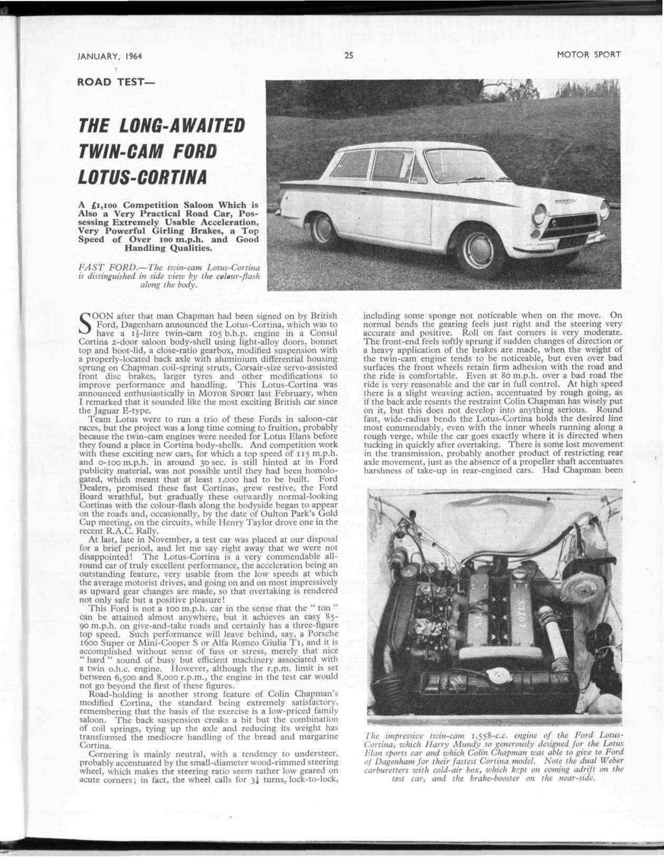 the long awaited twin cam ford lotus cortina image