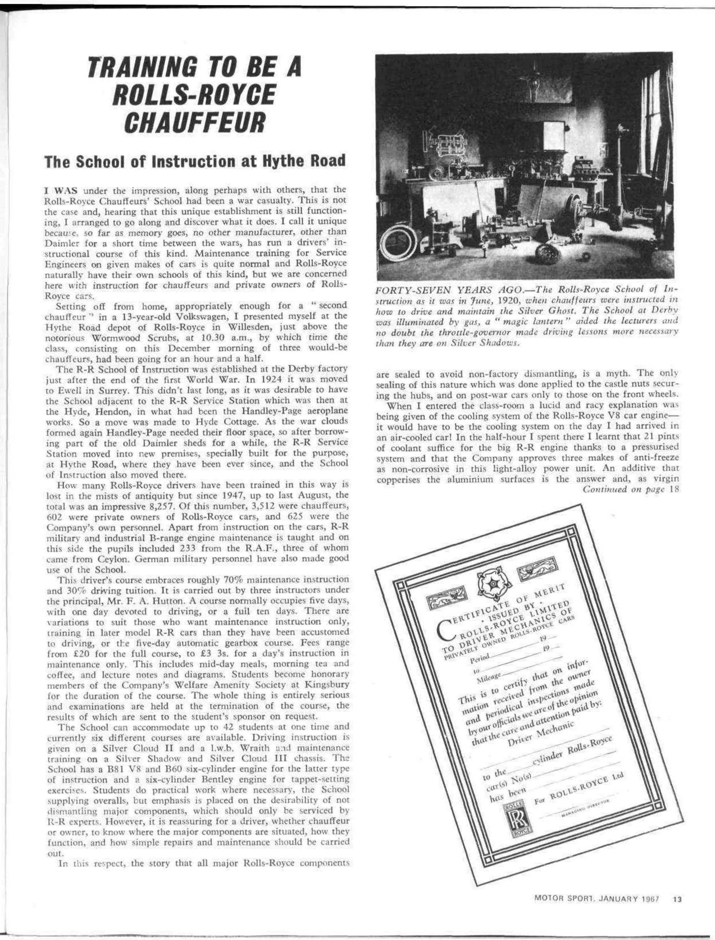 Training to be a Rolls-Royce chauffeur   Motor Sport Magazine Archive