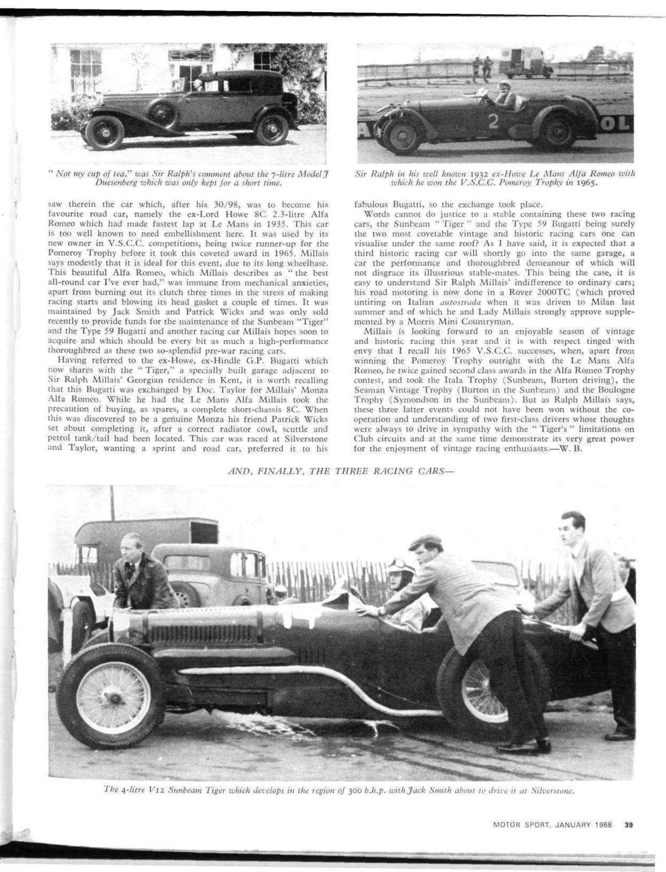 The Cars Of Sir Ralph Millais Bt Motor Sport Magazine