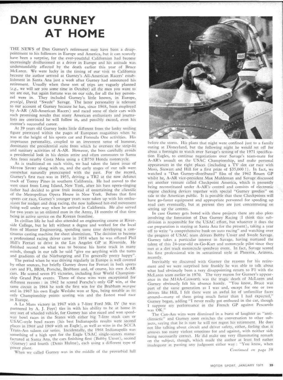 Dan Gurney at home image