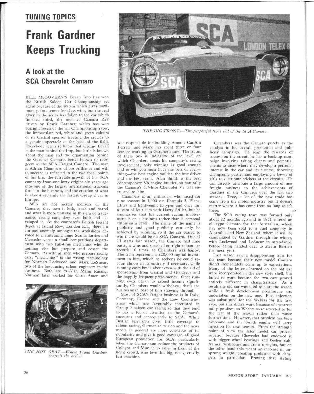 Frank Gardner Keeps Trucking