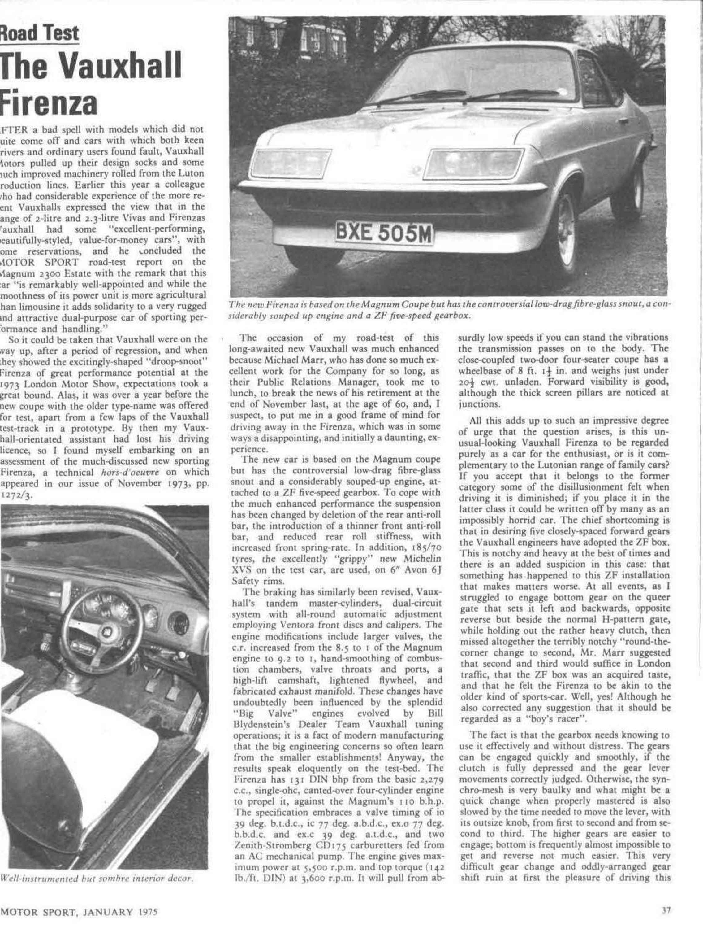 road test the vauxhall firenza image