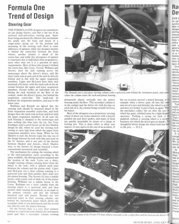 Formula One Trend of Design | Motor Sport Magazine Archive