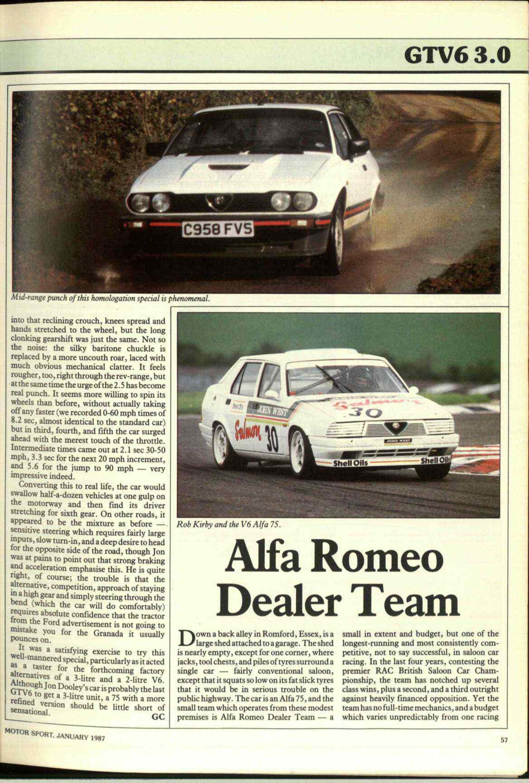 Alfa Romeo Romfordalfa Dealer Team Motor Sport Magazine Magazines Archive