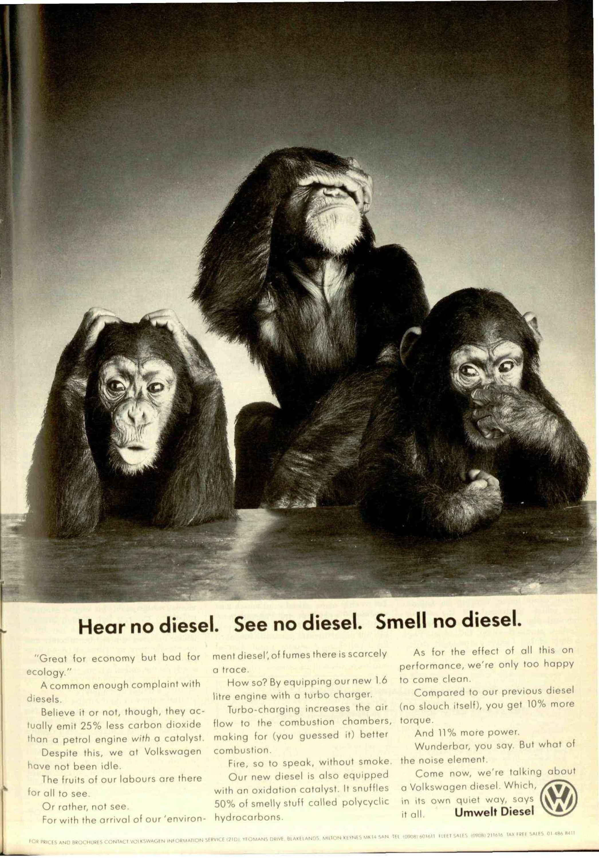 here no diesel see no diesel smell no diesel image
