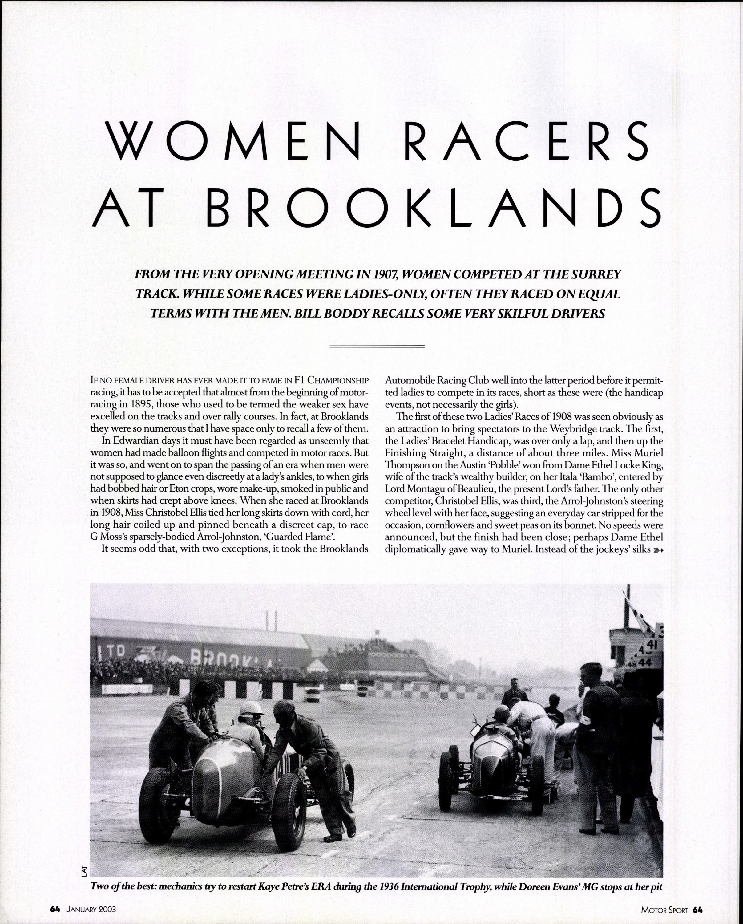 women racers at brooklands image