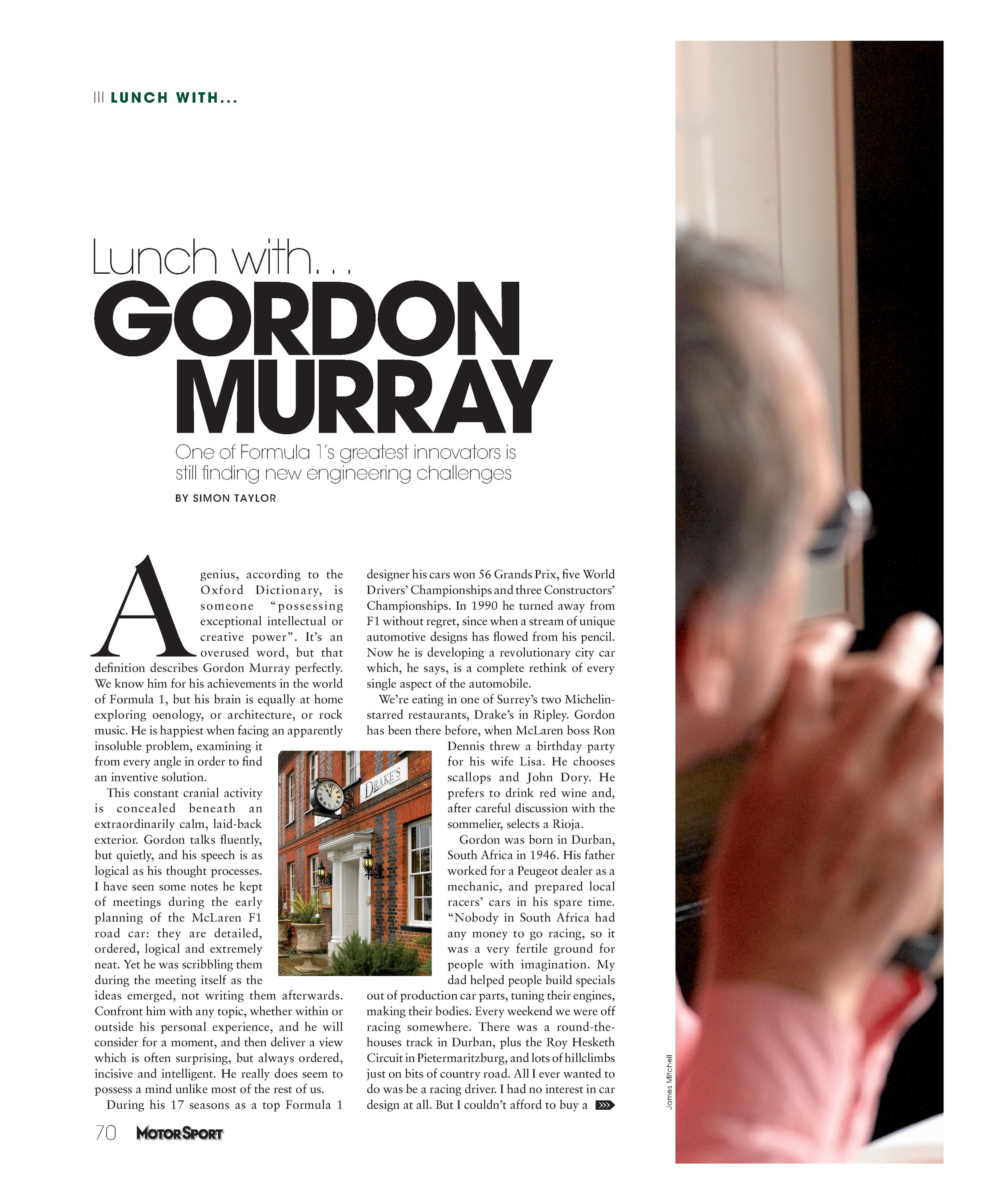 Lunch With... Gordon Murray image
