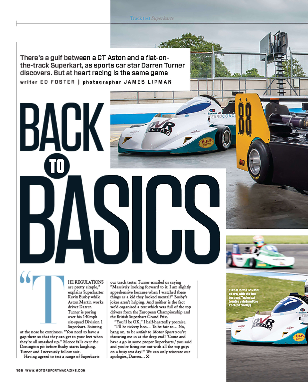 Track test: superkarts | Motor Sport Magazine Archive
