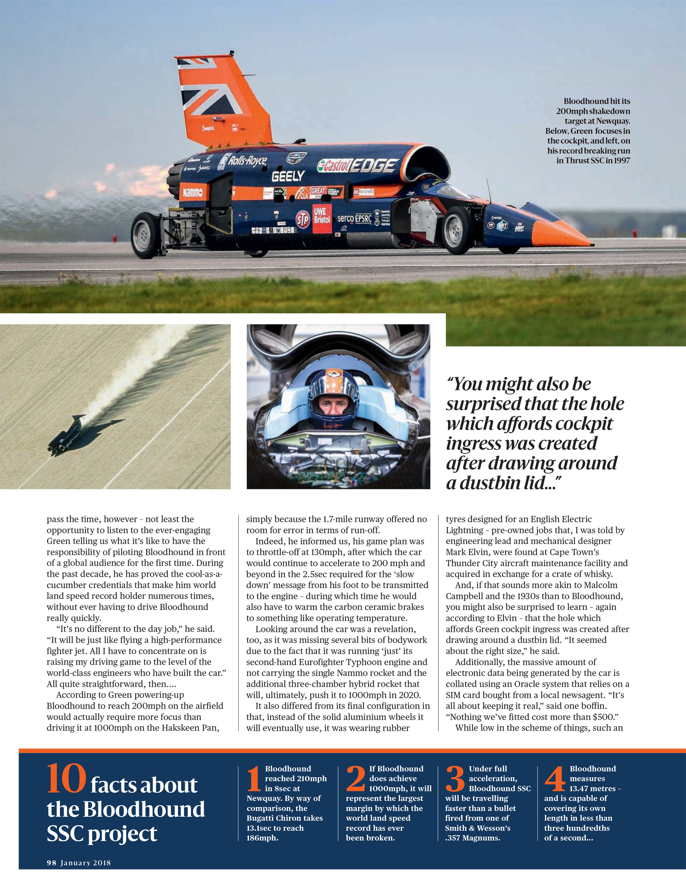 Ten facts about the Bloodhound SSC project image