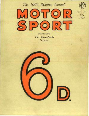 Cover image for July 1927