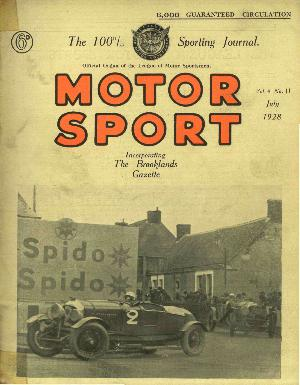 Cover of archive issue July 1928