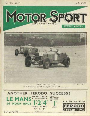 Cover of archive issue July 1932