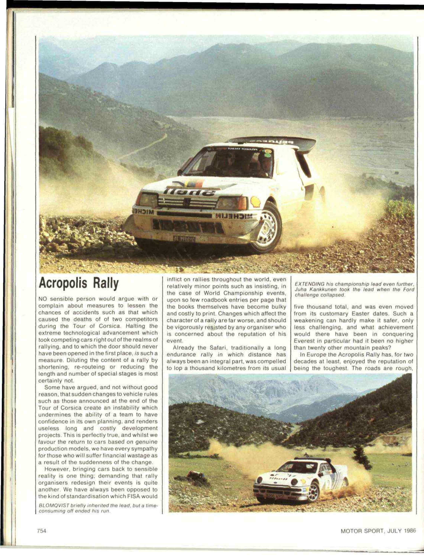 Acropolis Rally 1986 image