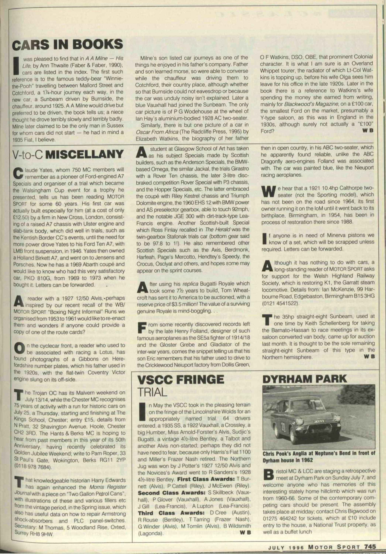 79f4238b V-to-C Miscellany | Motor Sport Magazine Archive