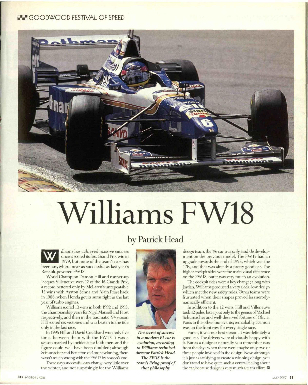 williams fw18 image