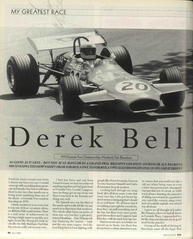 My greatest race   Derek Bell image