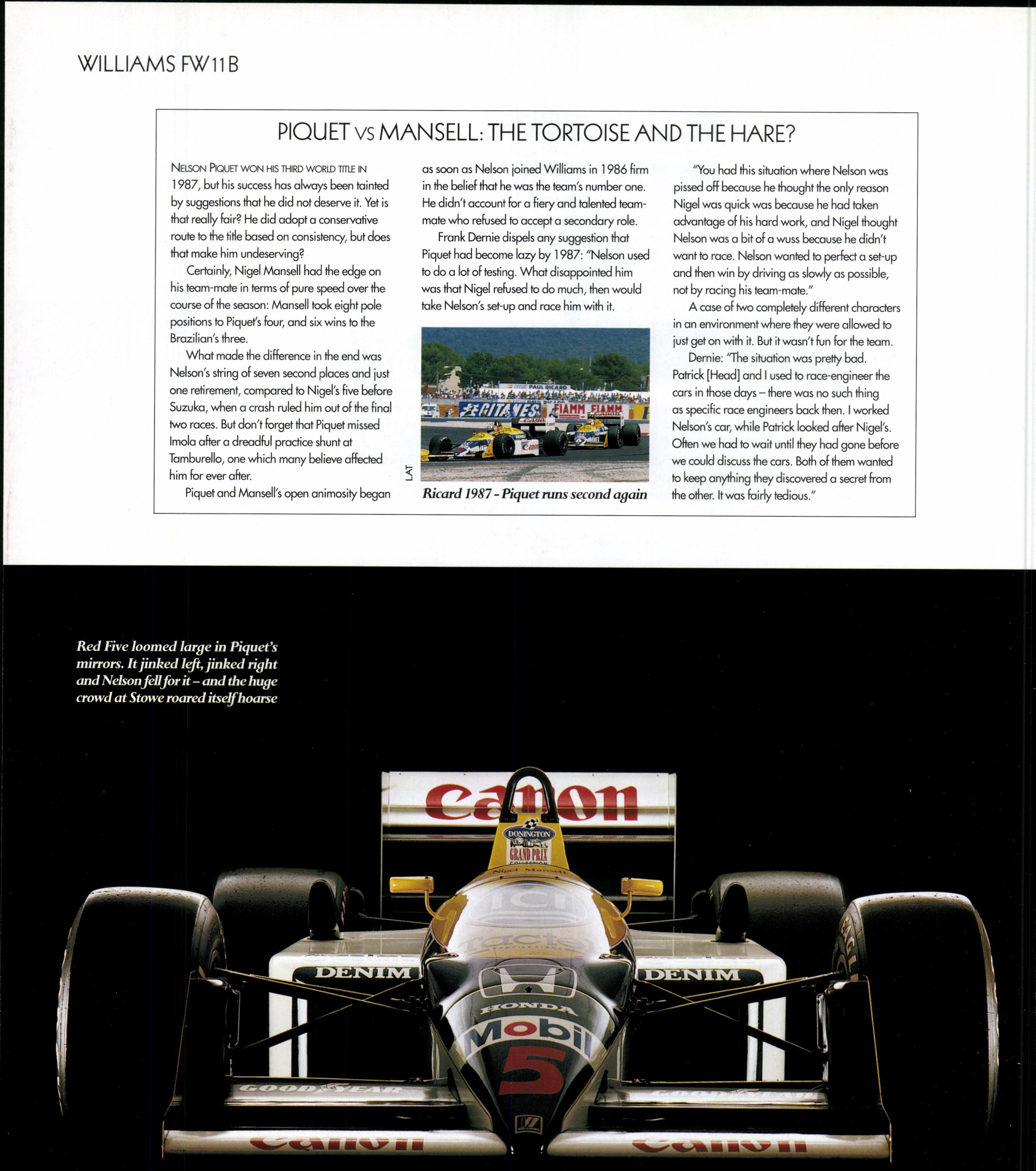 piquet vs mansell the tortoise and the hare image