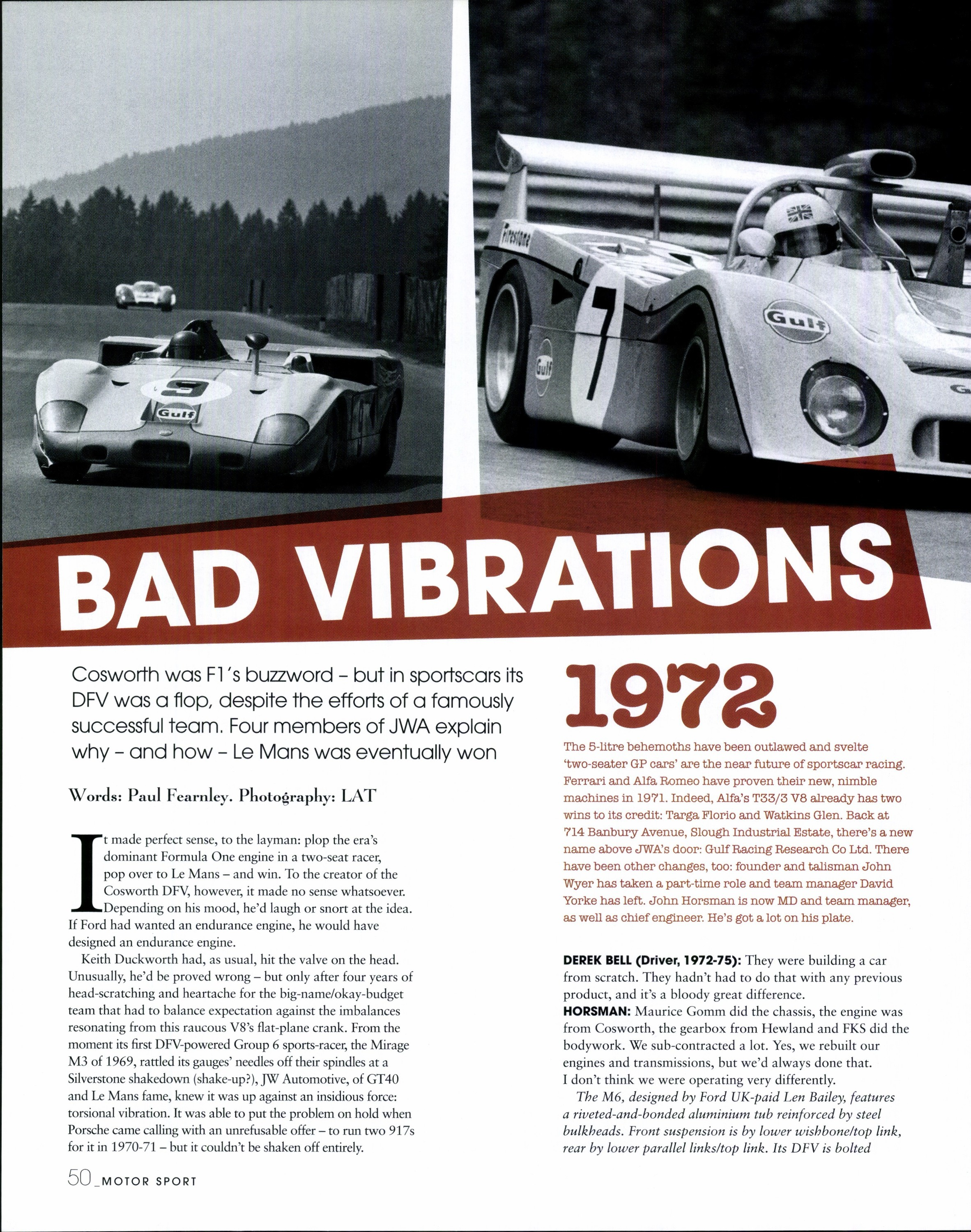 Bad vibrations | Motor Sport Magazine Archive