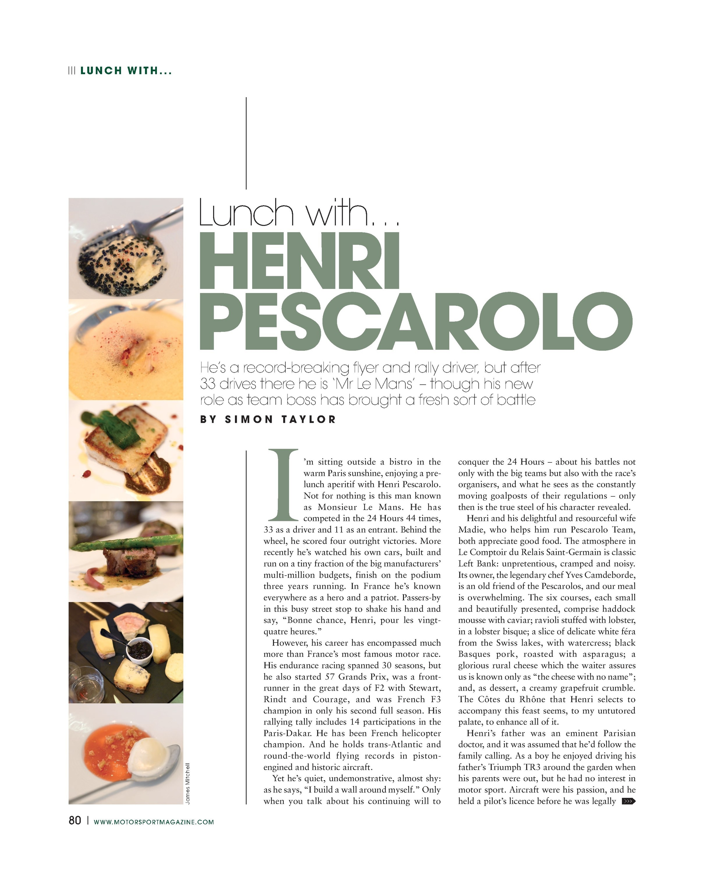 Lunch with... Henri Pescarolo image
