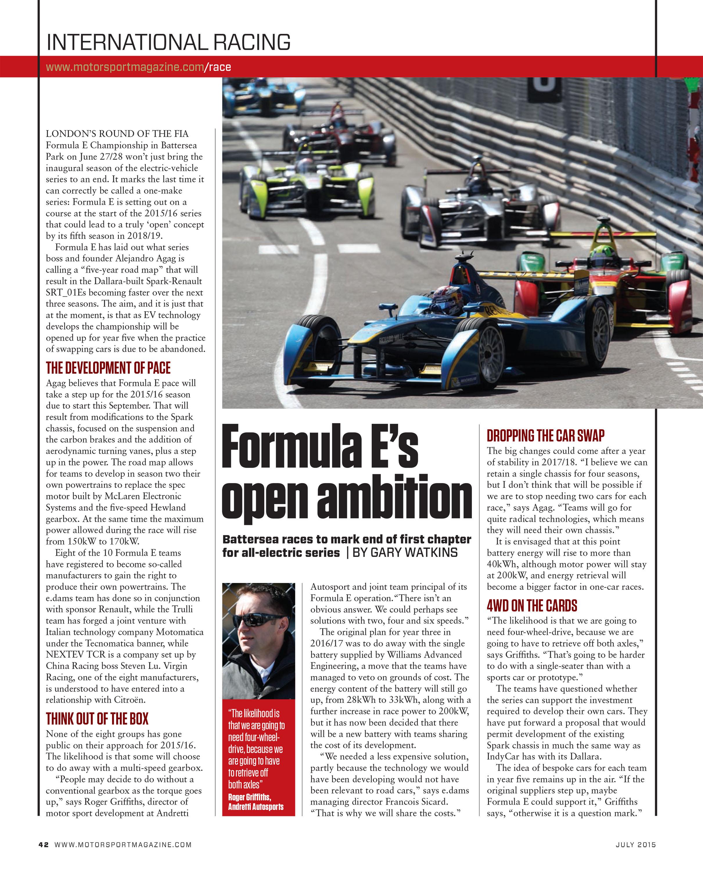 Formula E's open ambition image