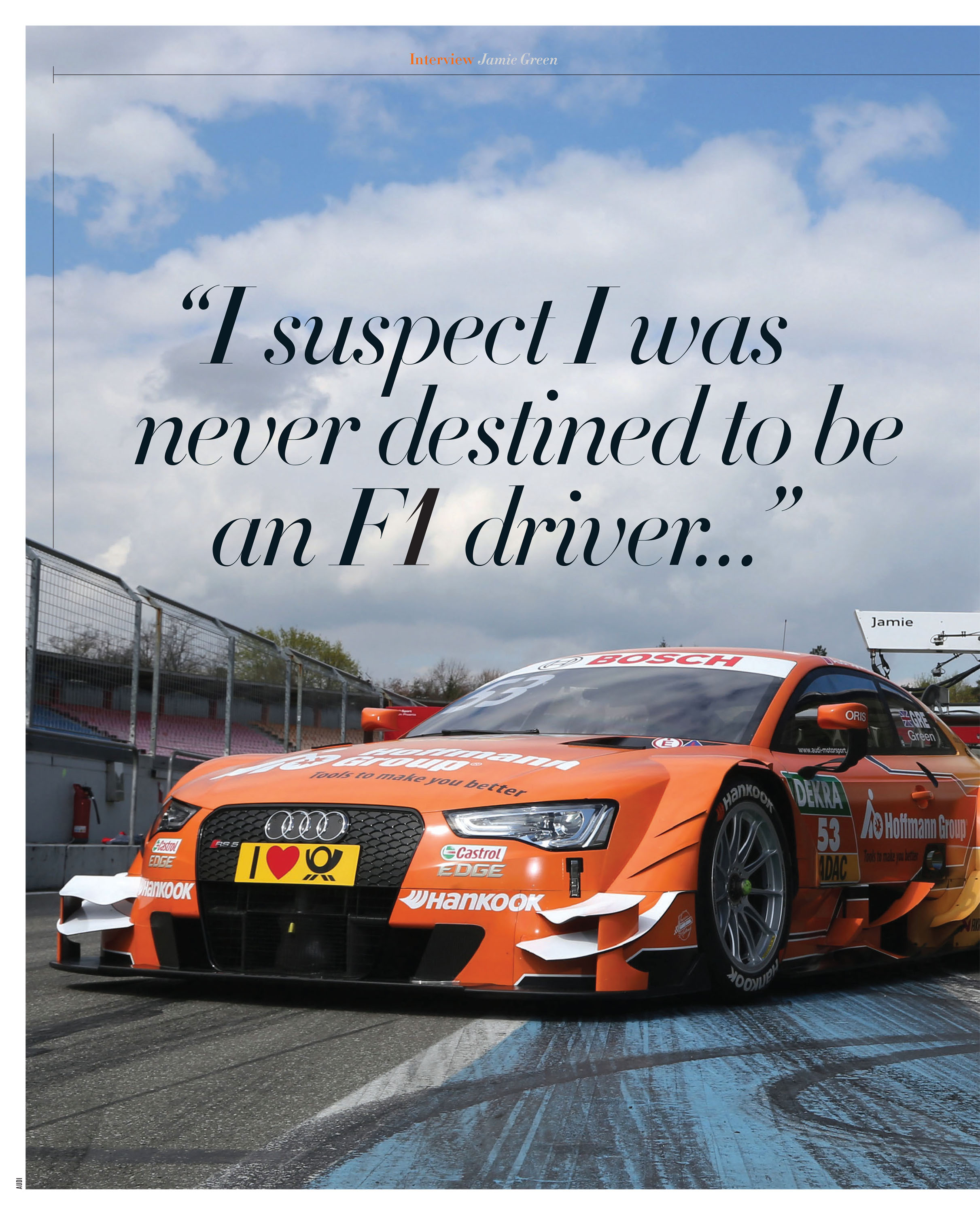 """""""I suspect I was never destined to be an F1 driver…"""" image"""