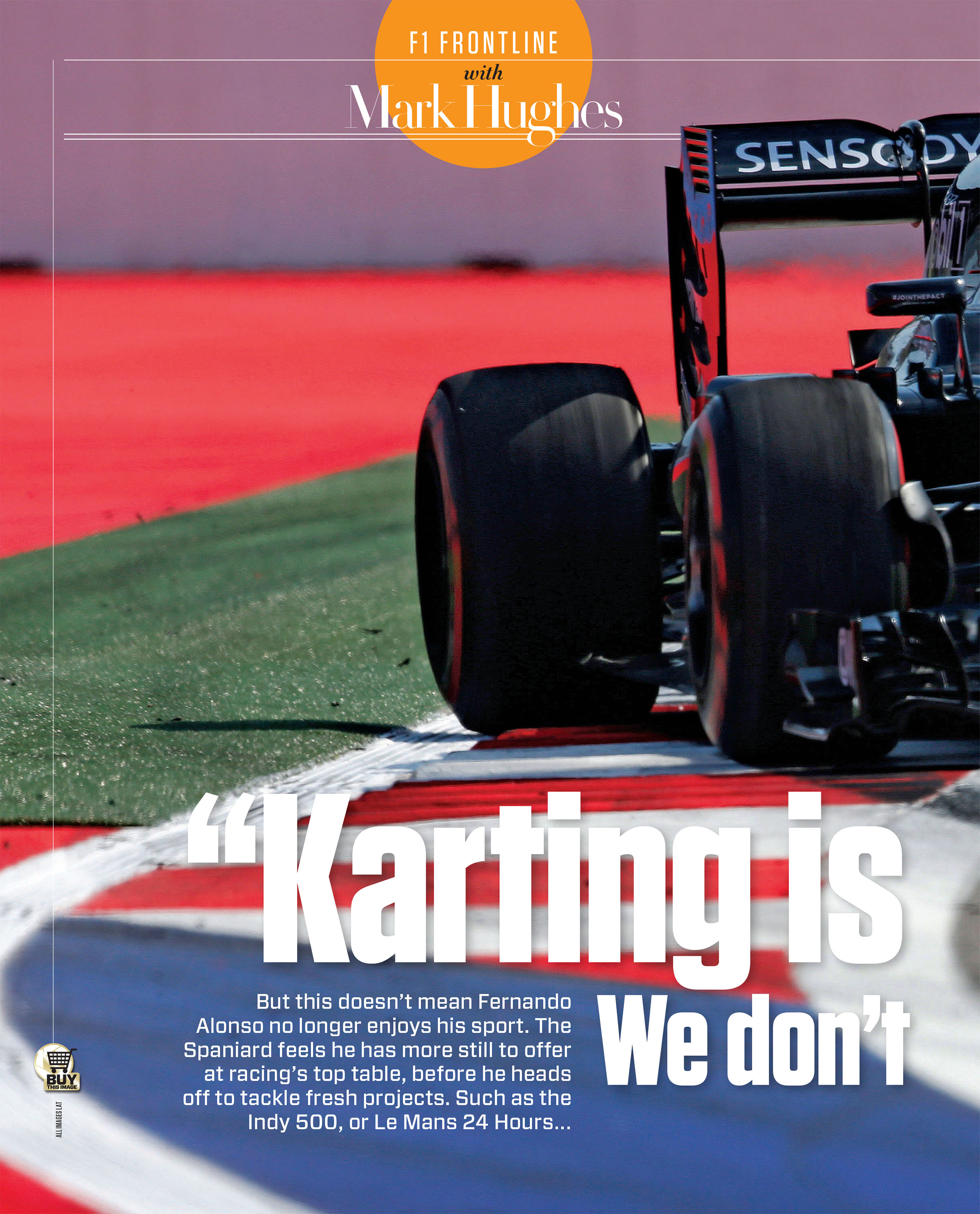 "Alonso: ""Karting is pure driving. We don't get that in F1 any more"" image"