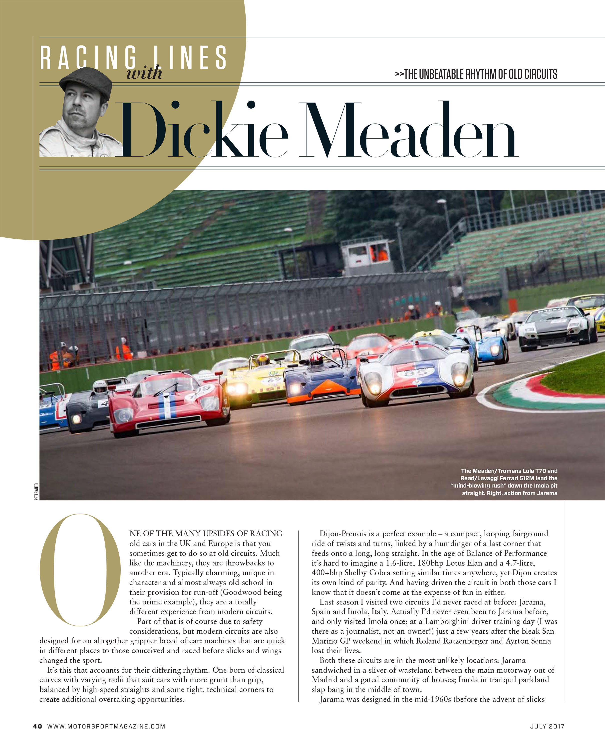 Racing Lines The Unbeatable Rhythm Of Old Circuits Motor Sport 42 What Happens When A Circuit Is On Complete Lights Magazine Archive