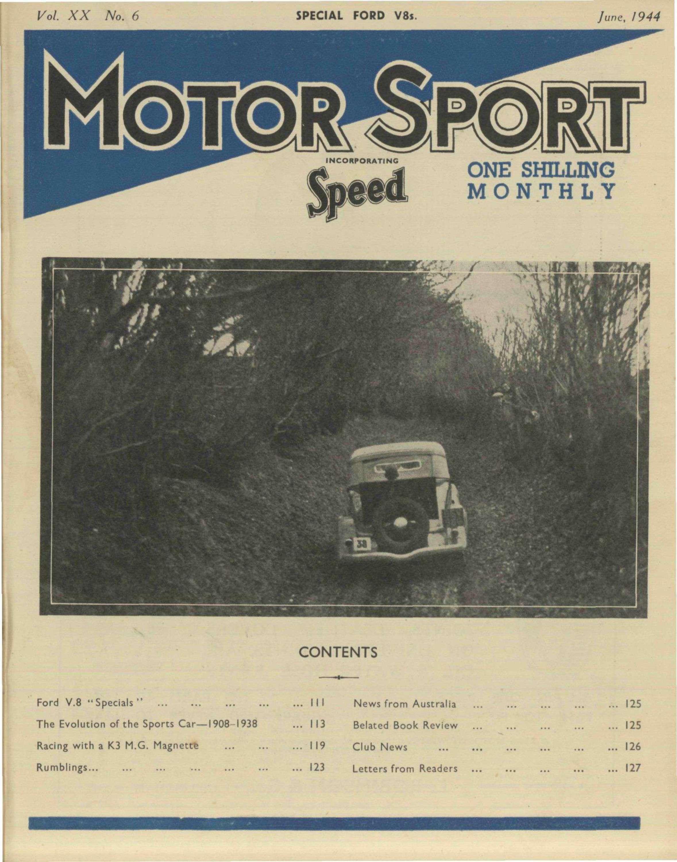 June Motor Sport Magazine - Sports cars 8 letters