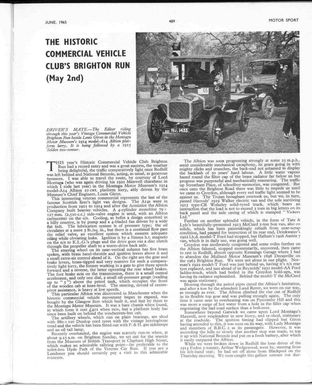 THE HISTORIC COMMERCIAL VEHICLE CLUB\'S BRIGHTON RUN | Motor Sport ...