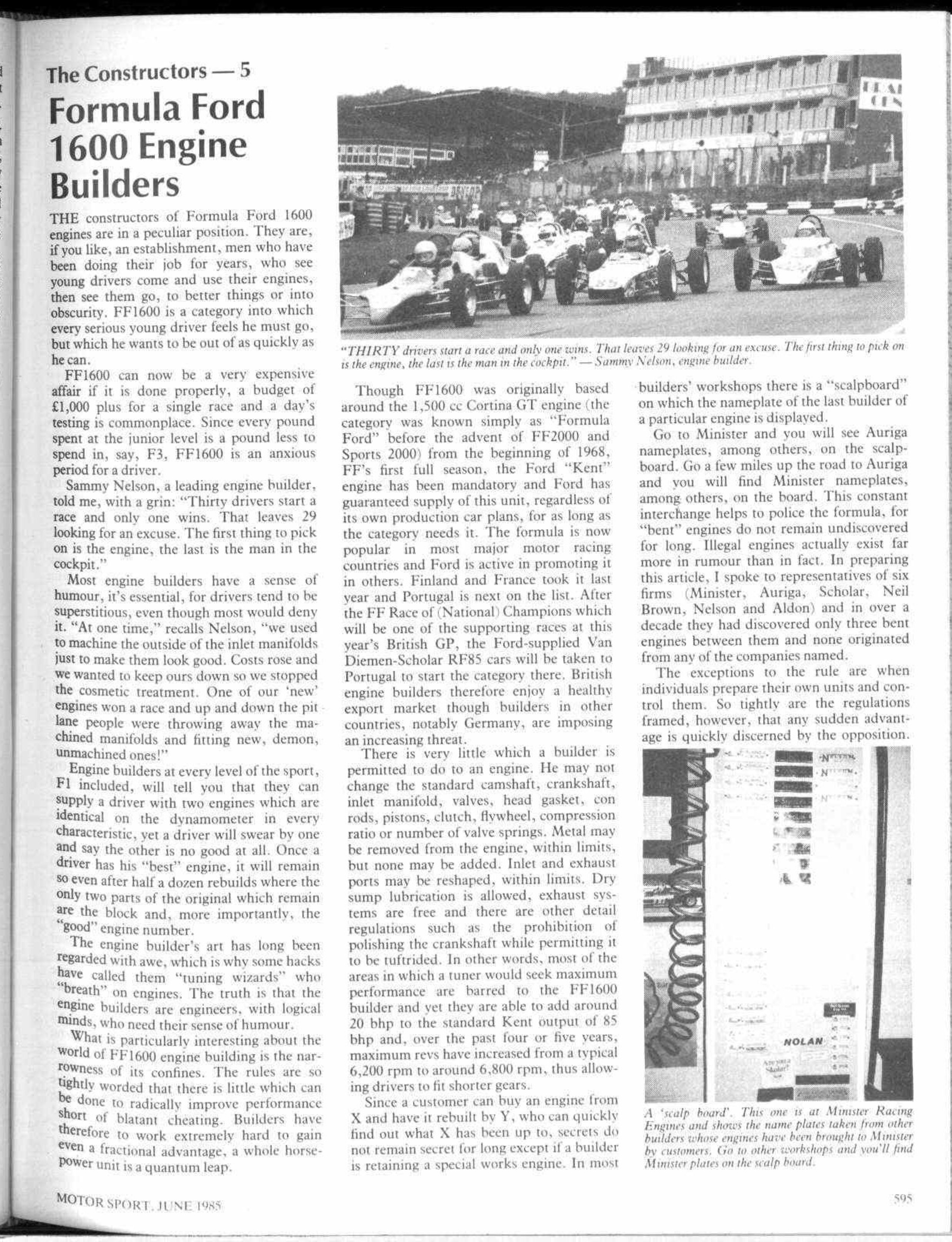 The Constructors - 5 Formula Ford 1600 Engine Builders