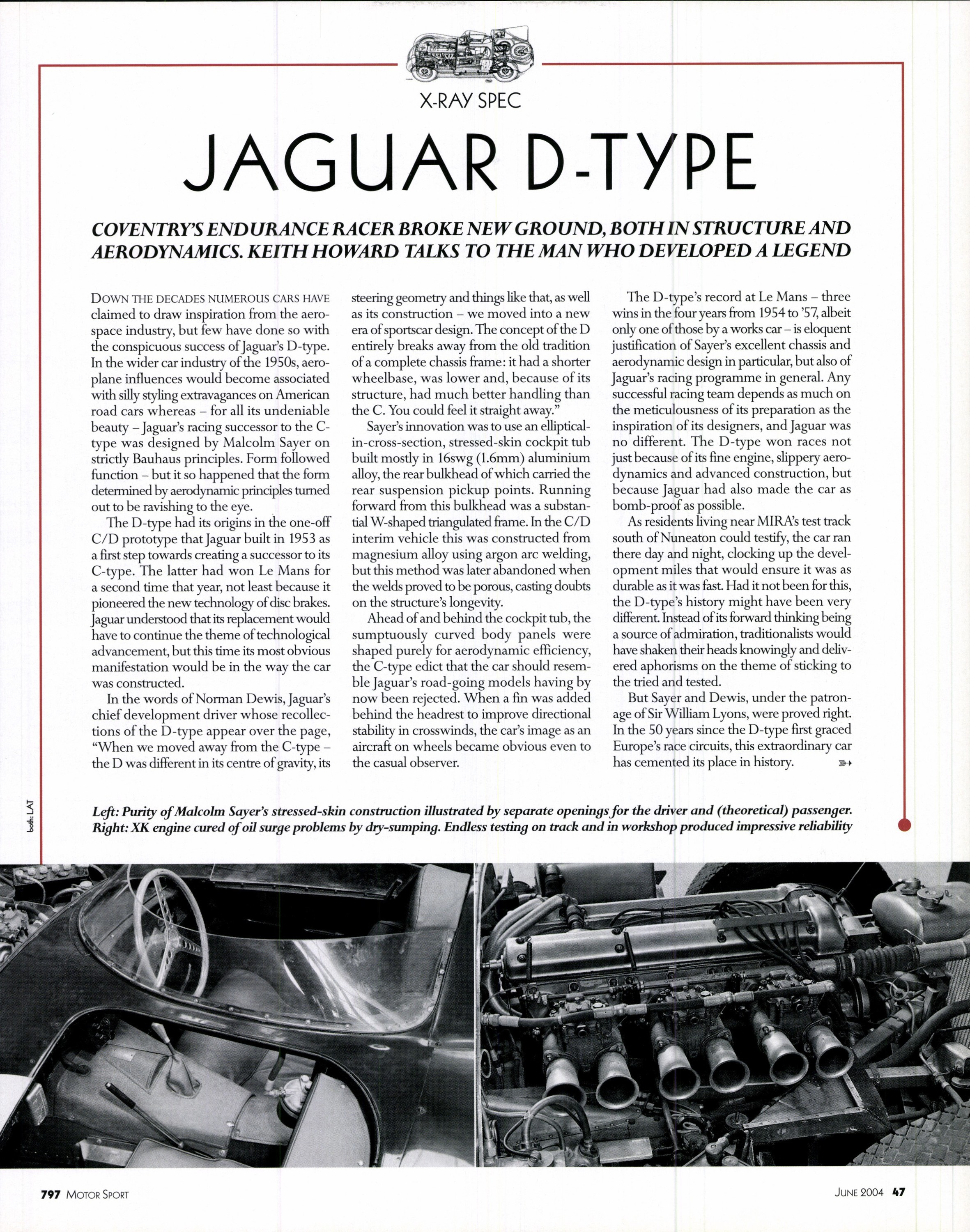 x ray spec jaguar d type image