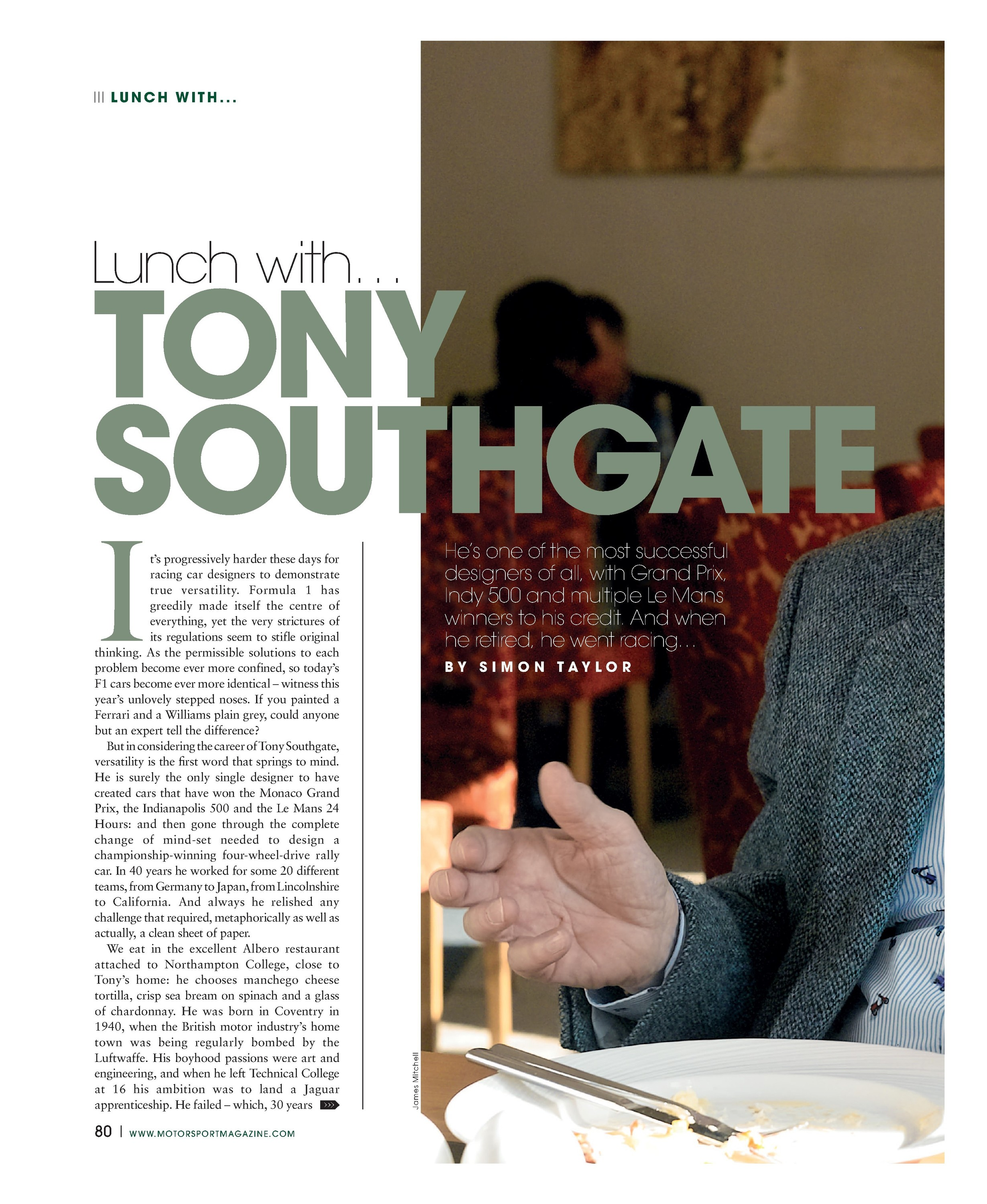 lunch with tony southgate image