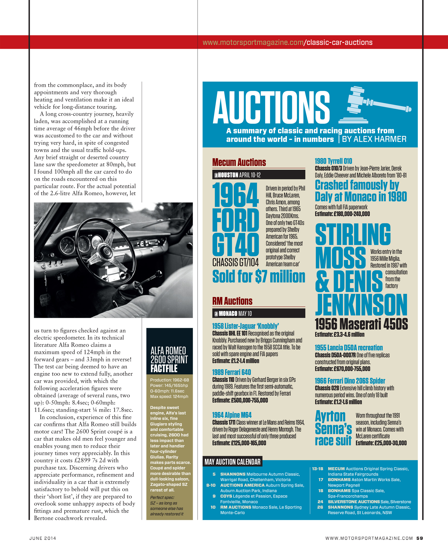 MOTOR SPORT June 2014 (Hesketh, Lister, Le Mans preview, Lotus 49, Porsche 935)