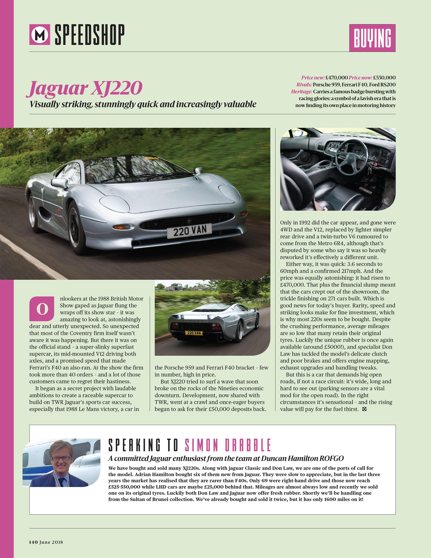 Buying   Jaguar XJ220 image