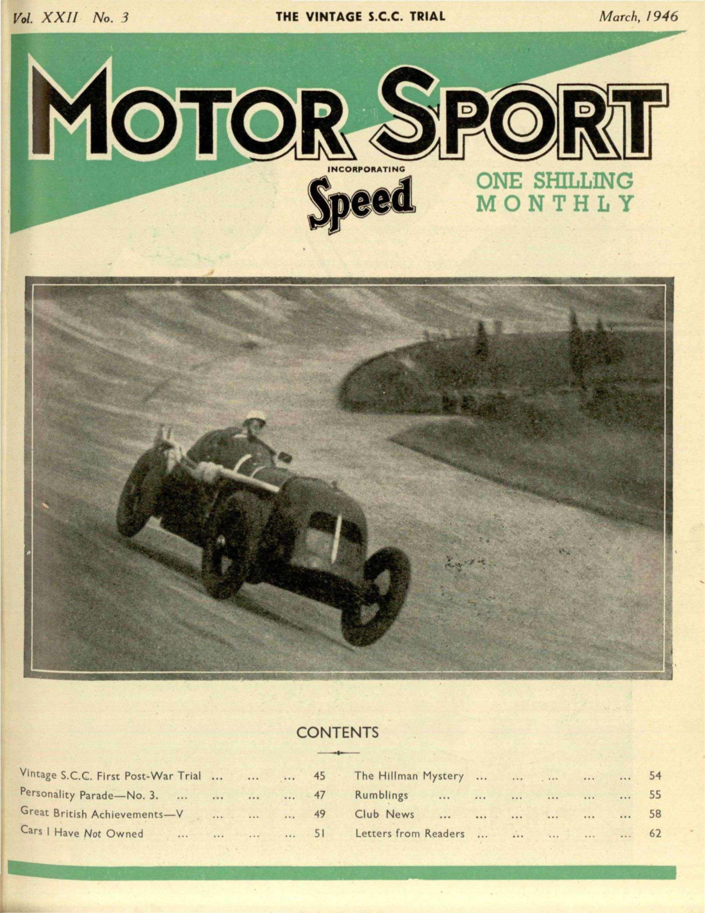 March Motor Sport Magazine - Sports cars 5 letters