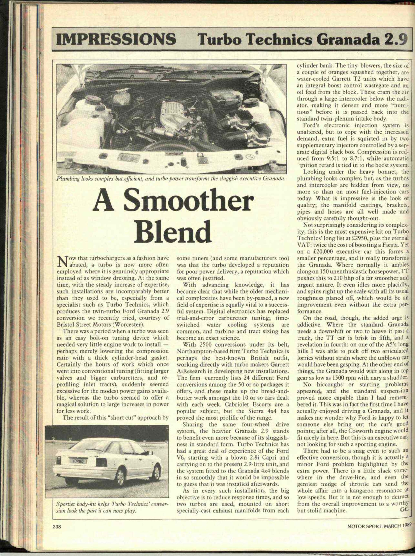 Impressions Turbo Technics Granada 29 Motor Sport Magazine Archive 40 Ford V6 Engine Diagram
