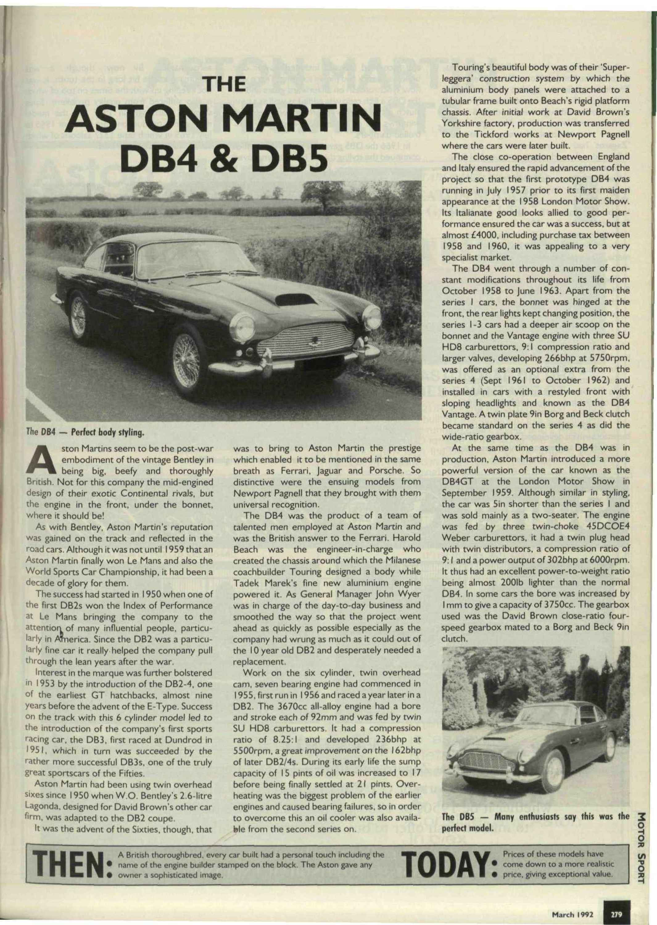 the aston martin db4 db5 image