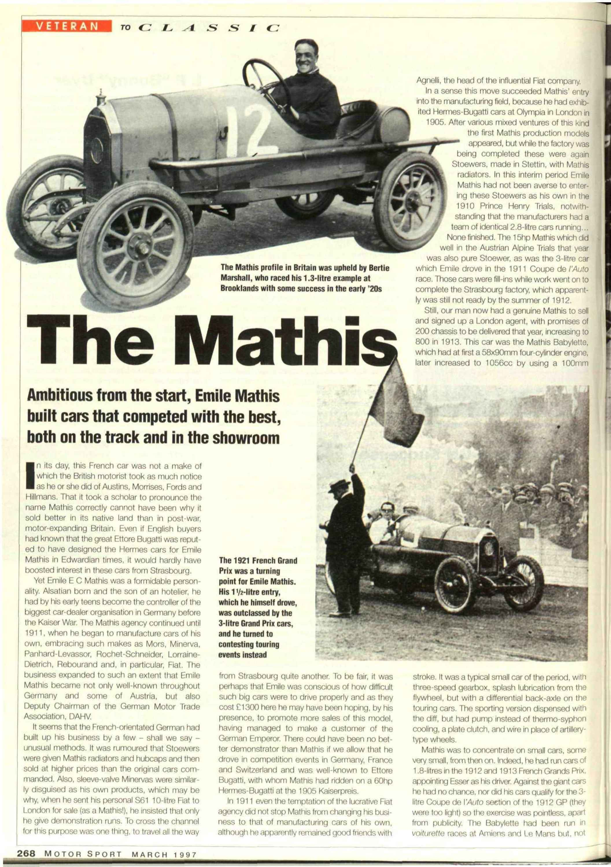 The Mathis | Motor Sport Magazine Archive