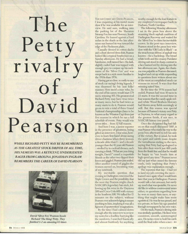 The Petty rivalry of David Pearson image