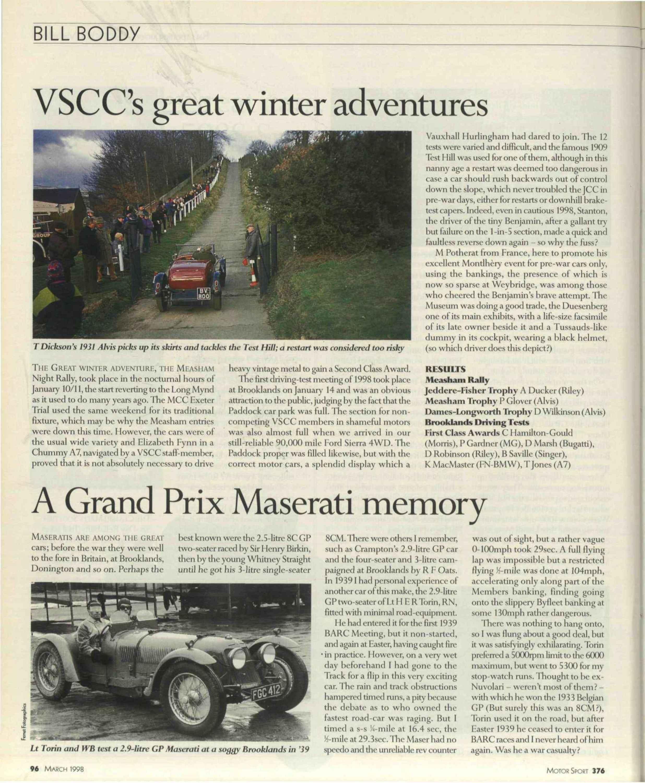 A Grand Prix Maserati memory image