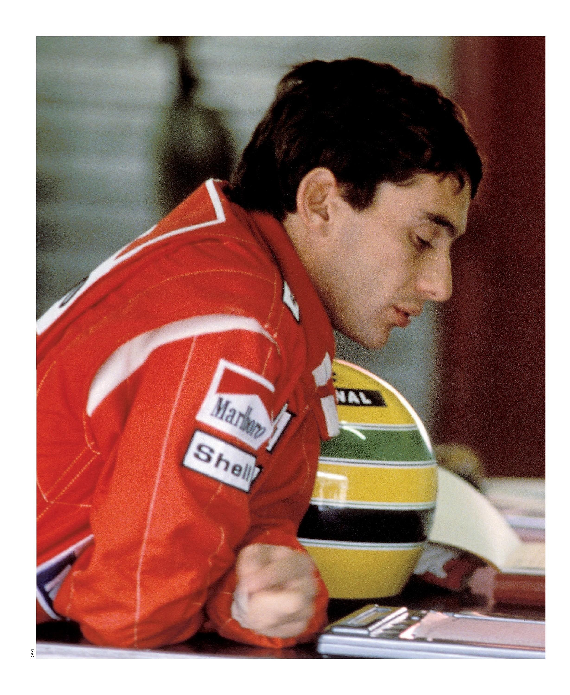 Prost on Senna image