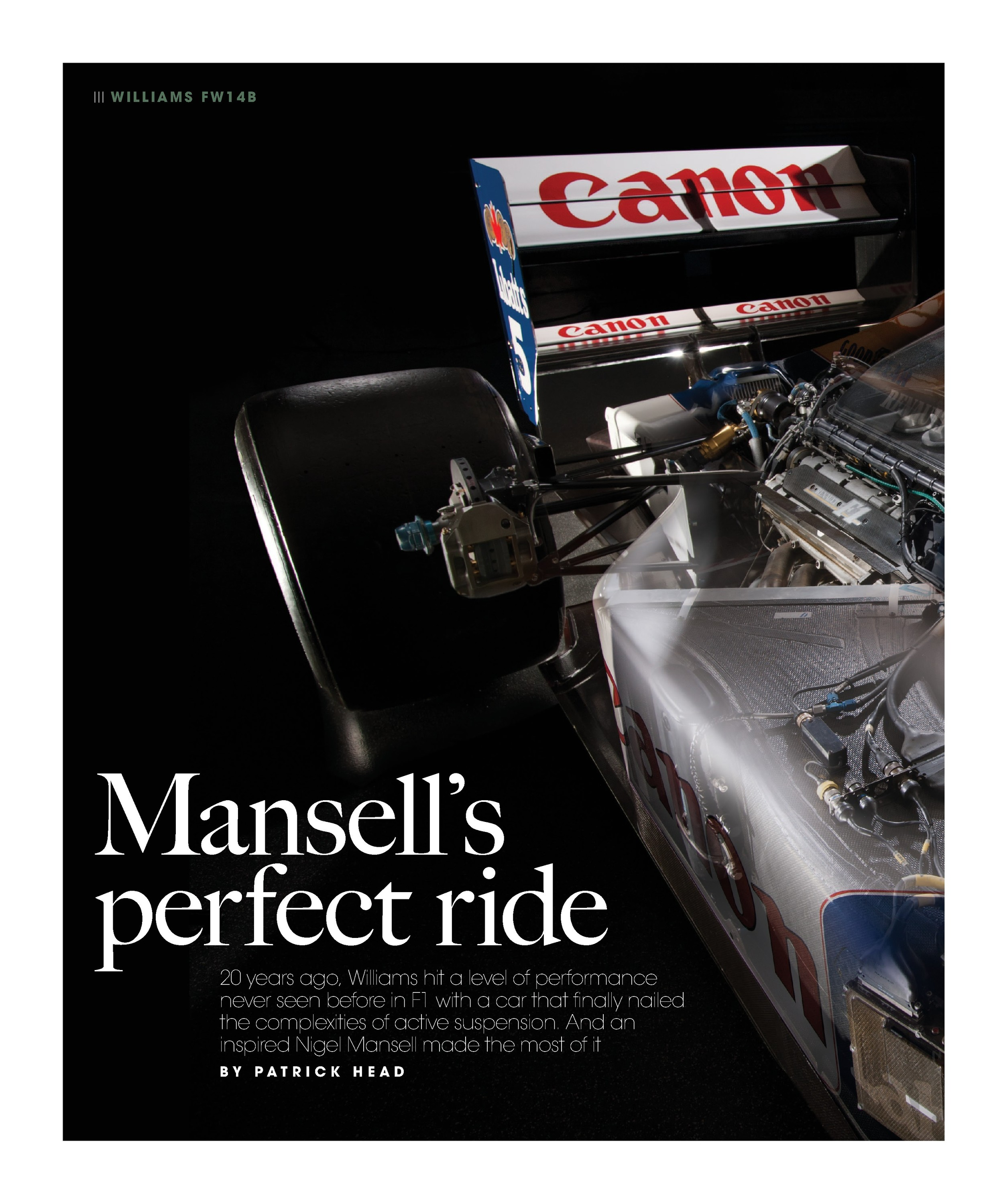 Mansell's perfect ride | Motor Sport Magazine Archive
