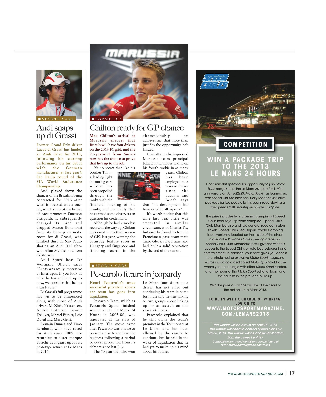 present 70 år man The Motor Sport Month   International News | Motor Sport Magazine  present 70 år man