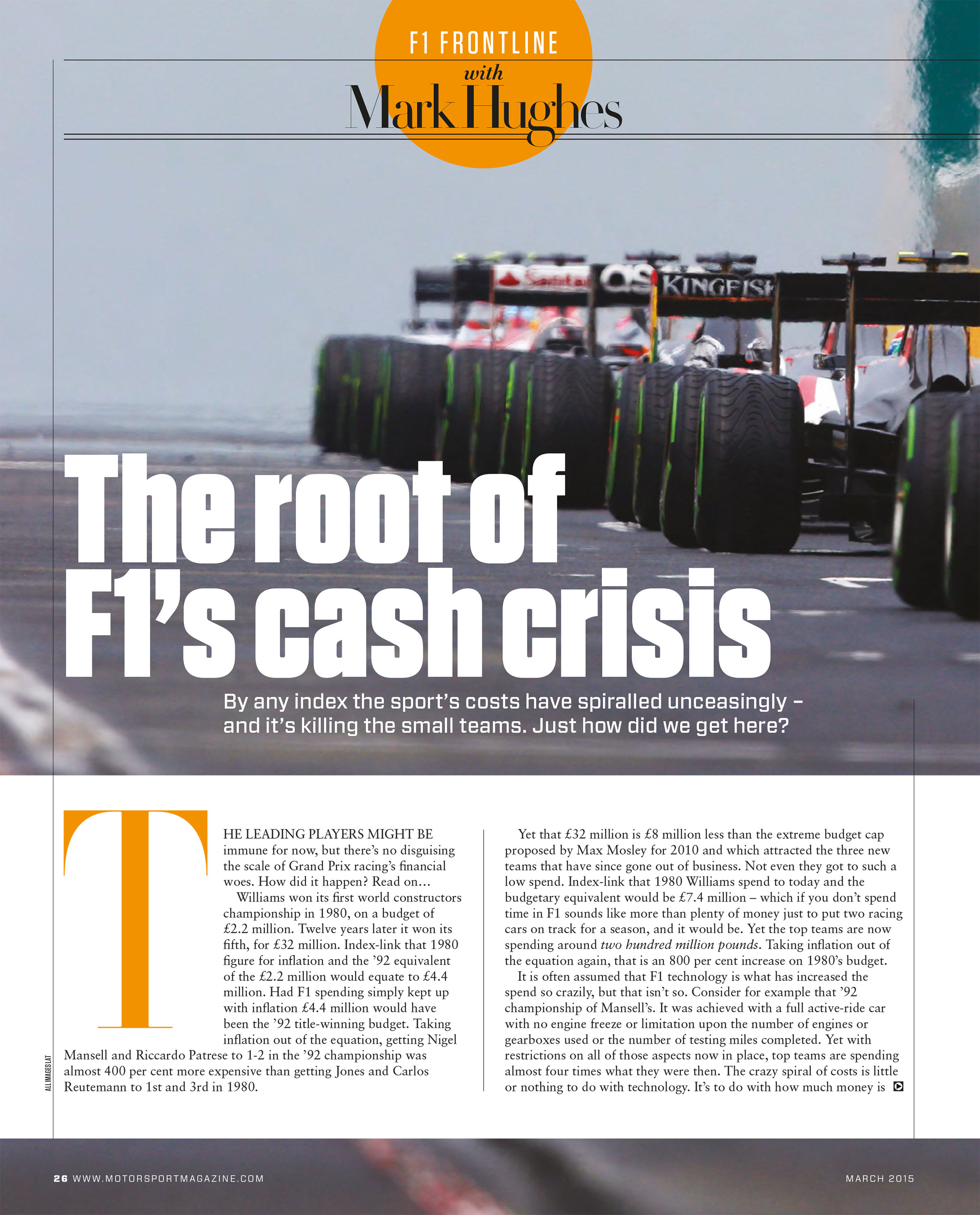 The root of F1's cash crisis image